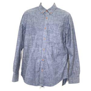 Club Monaco Slim Fit Gray Button Down Poplin Shirt